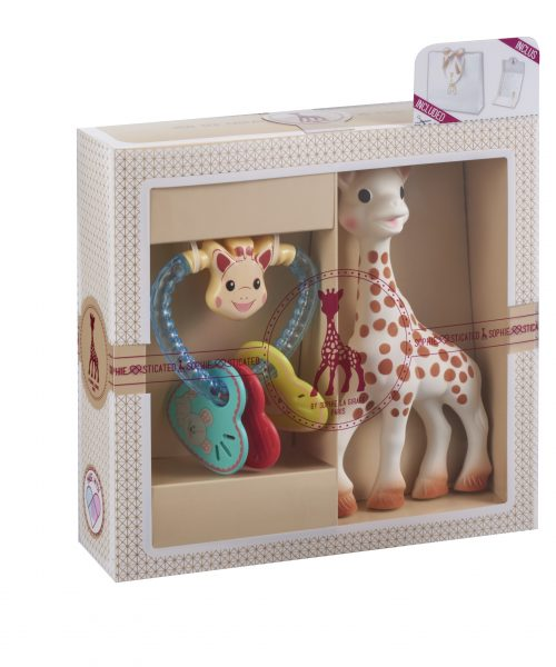 Sophie La Girafe Sohiesticated yeni doğan hediye seti 8