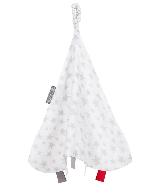 Cheeky Chompers Muslin Comforter Silver Stars