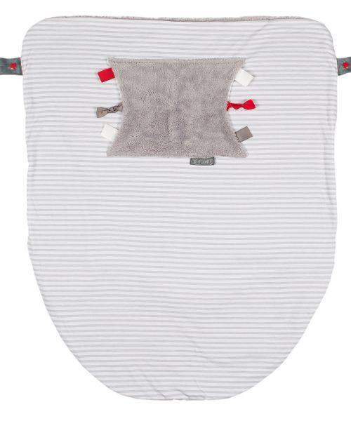Cheeky Chompers Blanket Grey Stripes