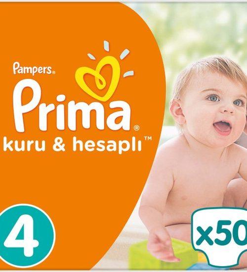 Prima Bebek Bezi Kuru ve Hesaplı 4 Beden Maxi Mega Paket 50 Adet