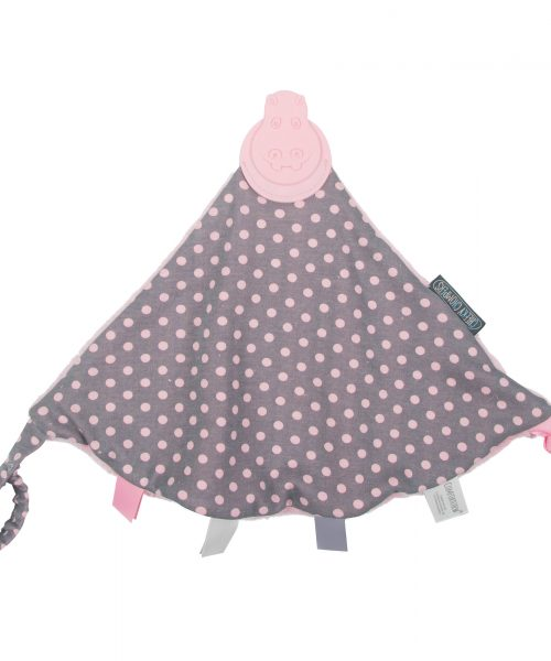 Cheeky Chompers Comfortchew Polka Dot Pink