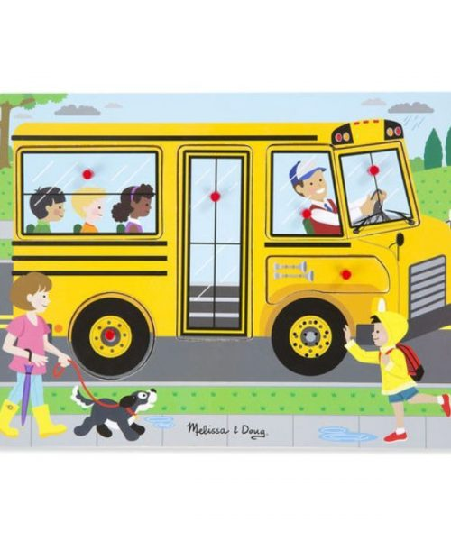 Melissa & Doug Ahşap Sesli Yapboz - The Wheels on the Bus