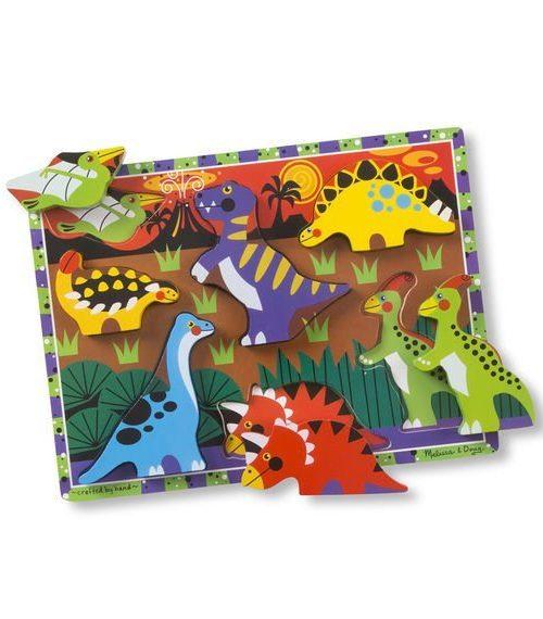 Melissa & Doug Ahşap Tombul Yapboz - Dinozorlar