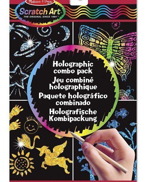 Melissa & Doug Kazıma Sanatı - Renkleri Ortaya Çıkar - Holografik Kombo Paket