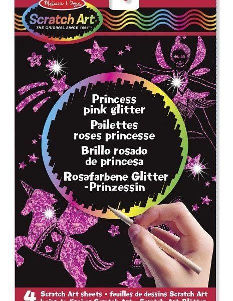 Melissa & Doug Kazıma Sanatı- Renkleri Ortaya Çıkar - Prenses- Işıltılı Pembe