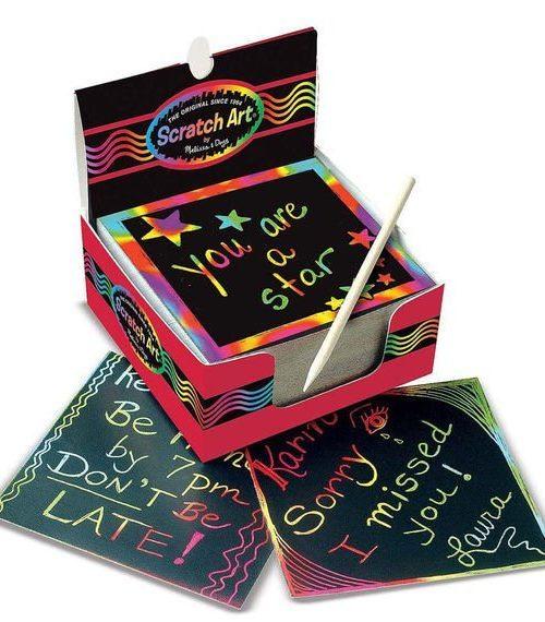 Melissa & Doug Kazıma Sanatı - Renkleri Ortaya Çıkar - Mini Not Kağıtları