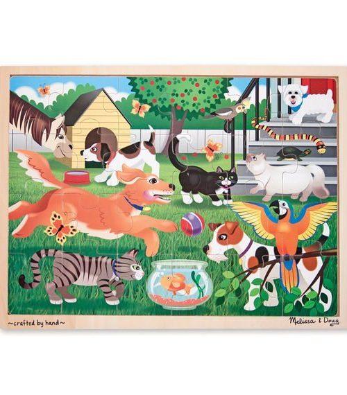 Melissa & Doug Ahşap 24 Parça Yapboz - Evcil Hayvanlar