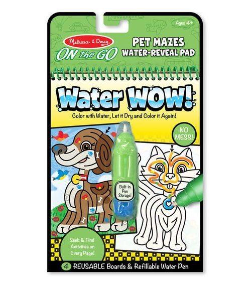 Melissa & Doug Water Wow! Su ile Boyama Kitabı - Evcil Hayvanlar Bulmaca