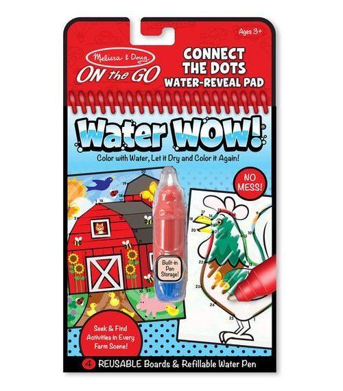Melissa & Doug Water Wow! Su ile Boyama Kitabı - Çiftlik - Noktaları birleştir