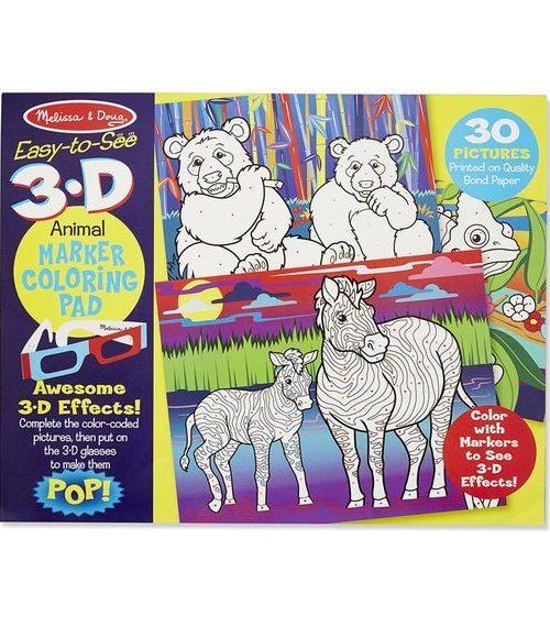 Melissa & Doug 3D Marker Boyama Kitabı - Hayvanlar
