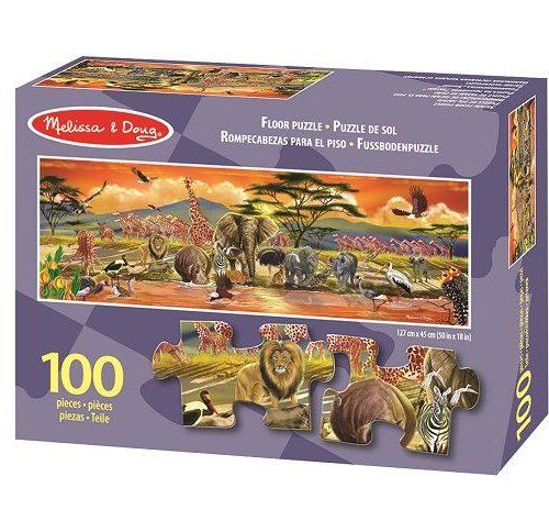 Melissa & Doug Dev Yer Yapbozu- Safari (100 parça)