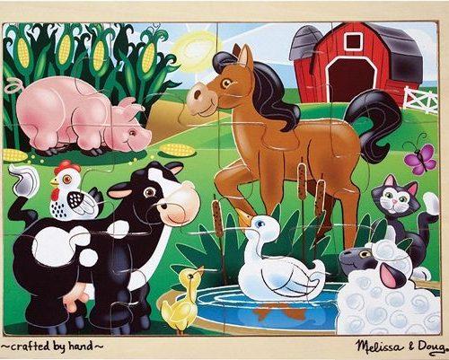 Ahşap 12 Parça Yapboz -Çiftlik Hayvanları