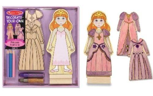 Ahşap Mıknatıslı Giydirme Prenses - Sen Yap Sen Oyna