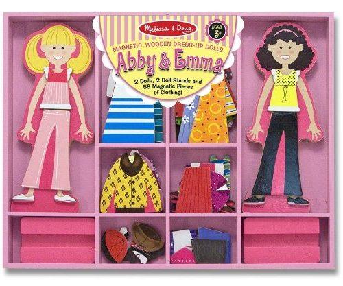 Melissa & Doug Ahşap Mıknatıslı Giydirme - Abby ile Emma
