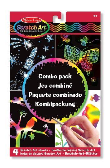 Melissa & Doug Kazıma Sanatı - Renkleri Ortaya Çıkar - Combo Paket