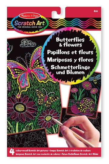 Melissa & Doug Kazıma Sanatı - Renkleri Ortaya Çıkar - Kelebekler ve Çiçekler