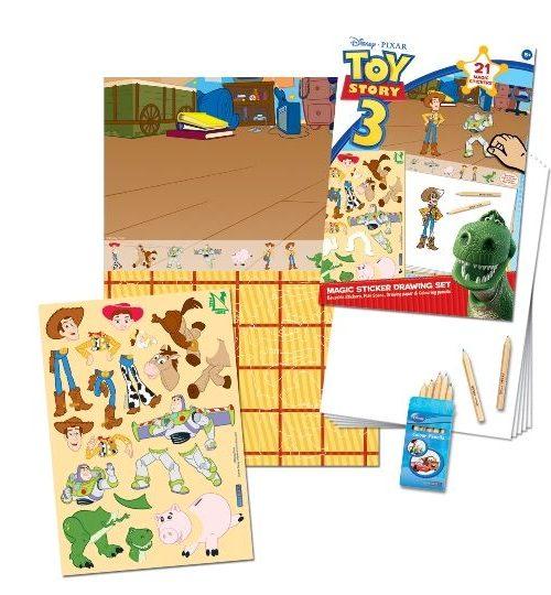 Sihirli Çıkartma Birleştir-Çiz-Boya - Disney Toy Story 3