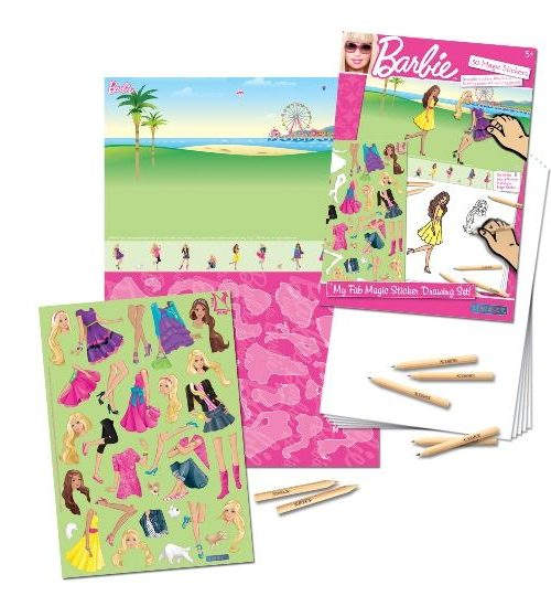 Sihirli Çıkartma Birleştir-Çiz-Boya - Barbie