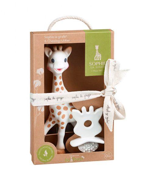 Sophie La Girafe+So Pure Kauçuk Diş Kaşıyıcı Set