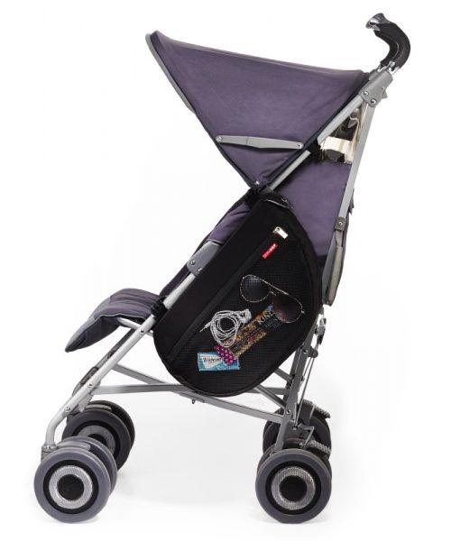 Fileli Bebek Arabası Çantası Siyah