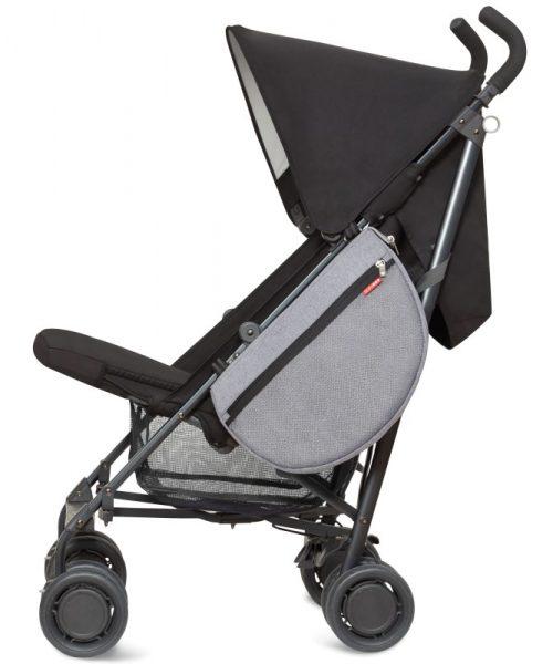 Fileli Bebek Arabası Çantası Gri