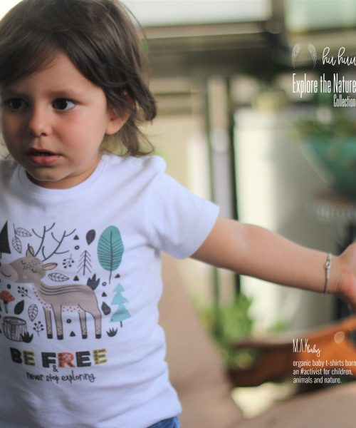 M.A.Kbaby Explore The Nature 'BE FREE' Organik Unisex Çocuk T-shirt'ü