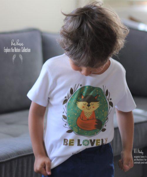 M.A.Kbaby Explore The Nature 'BE LOVELY' Organik Unisex Çocuk Tişörtü