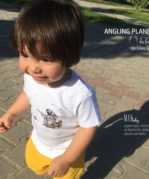 M.A.Kbaby Explore The Universe 'PLANET ANGLING' Organik Unisex Çocuk T-shirt'ü