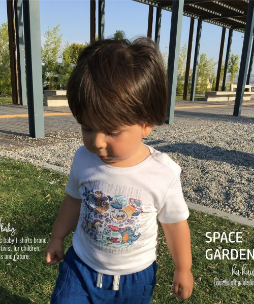 M.A.Kbaby Explore The Universe 'SPACE GARDEN' Organik Unisex Çocuk T-shirt'ü