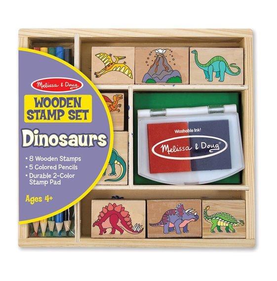 Melissa & Doug Ahşap Baskı Seti - Dinozorlar