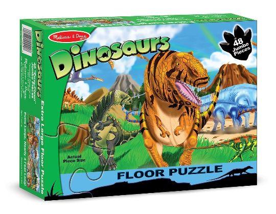 Melissa & Doug Dev Yer Yapbozu- Dinozor Dünyası (48 parça)