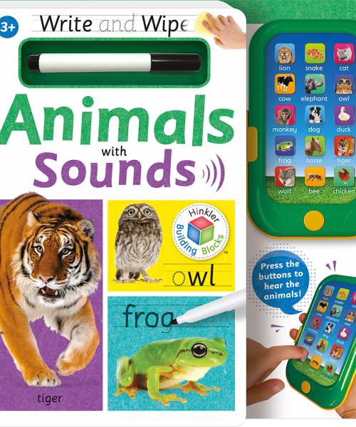 Building Blocks Write and Wipe With Sounds: Animals